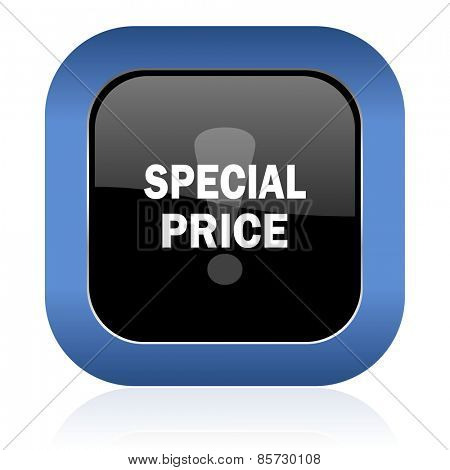special price square glossy icon
