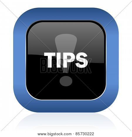 tips square glossy icon