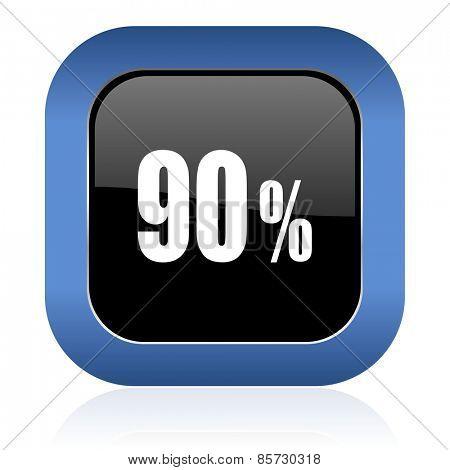 90 percent square glossy icon sale sign