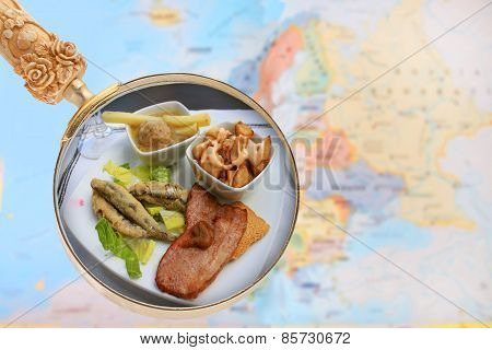 Spain Tapas With Map