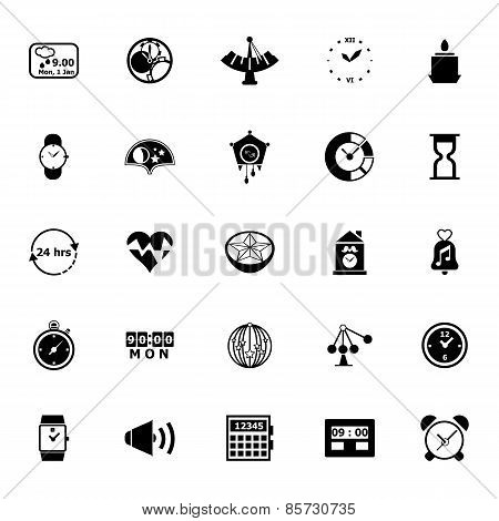 Design Time Icons On White Background