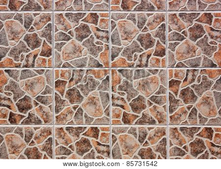 Pattern of mosaic tiles