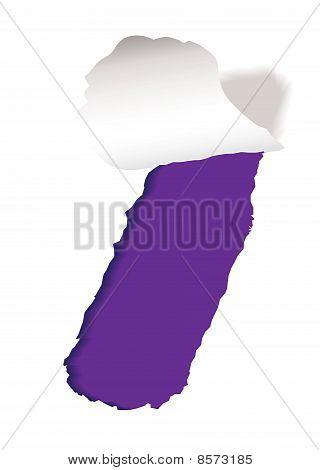 Papel púrpura ranura lágrima