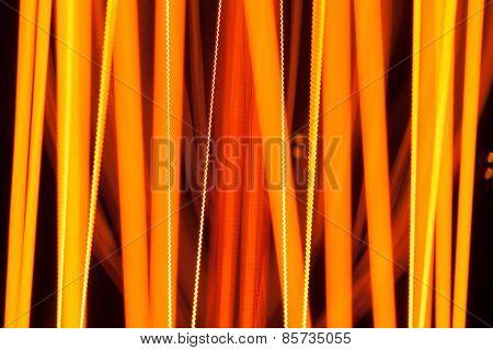 abstract light spirals of bulb lamp