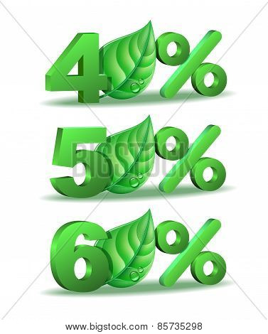 Spring Percent discount icon
