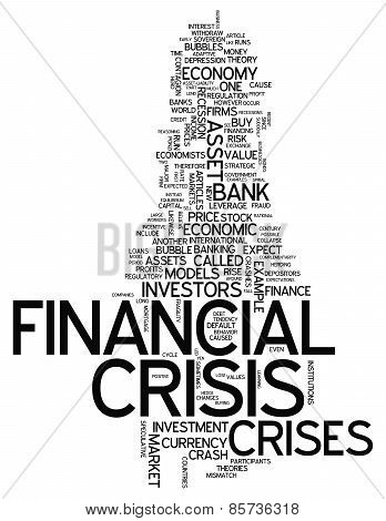 Word Cloud Financial Crisis