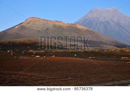 Sand Filled Volcanic Landscape