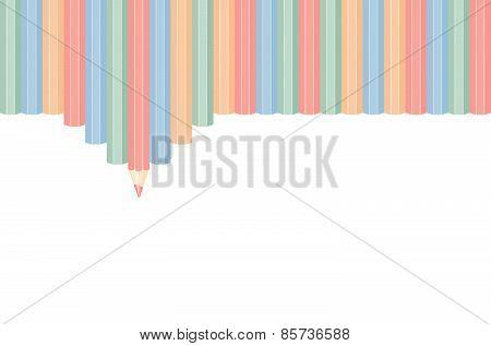 Row of color pencils