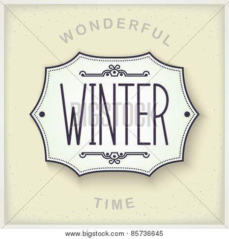 Seasons design plate