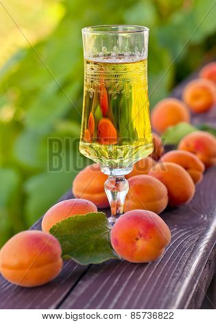 Sweet Wine And Ripe Apricots