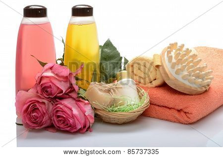 Items for body care, spa bath, sauna and massage