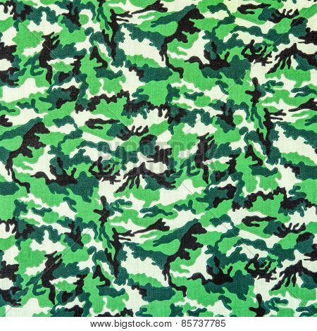 Texture Of Fabric Striped Military Camouflage