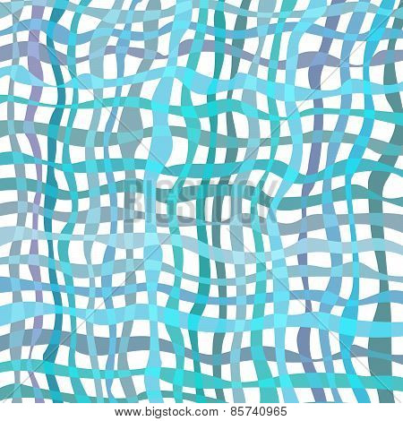 Abstract blue mesh wave texture. Vector background