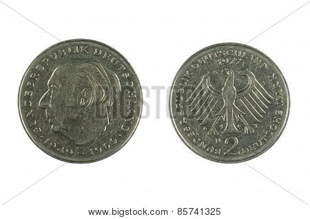 Germany Coin On White