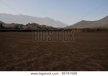 Ash Field Inside Volcano Park