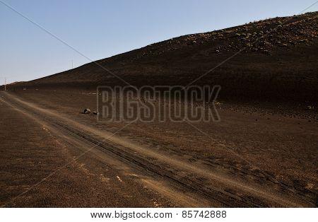 Road Through Volcano Dunes