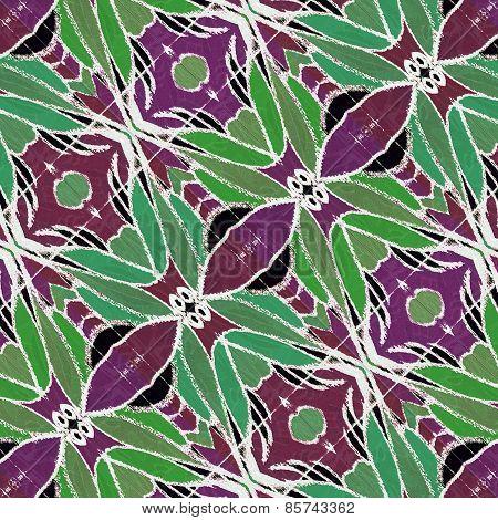 Decorative Floral Motif Pattern Background