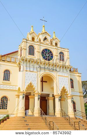 Suebnathitham Church, Located In Chiang Mai, Thailand.