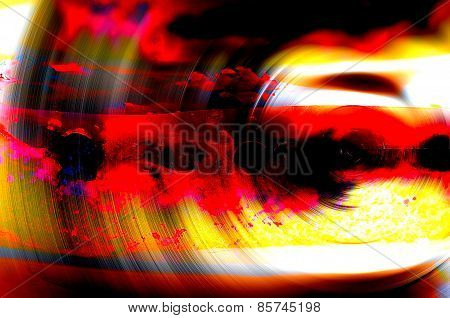 Multicolored Abstract Swirl