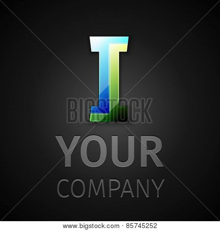 abstract vector logo letter I