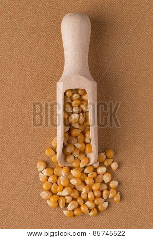 Wooden Scoop With Corn