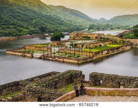 Amber fort gardens, Jaipur, India