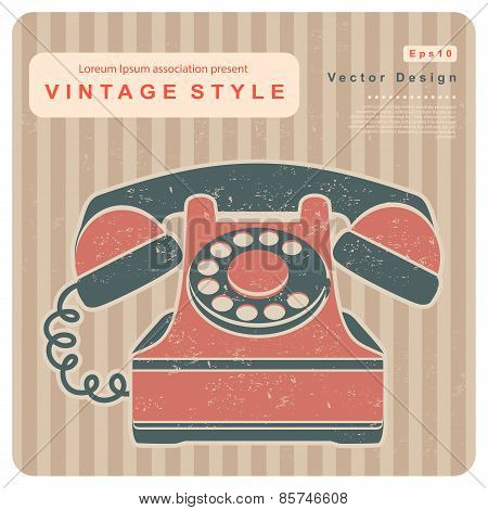 Retro phone illustration