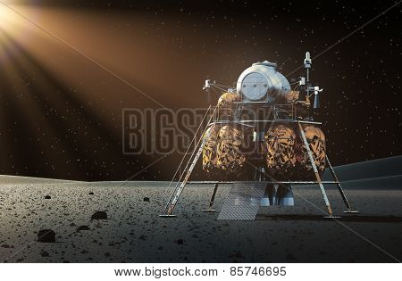 Space Lander On The Planet