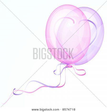 Shiny Heart Balloons.