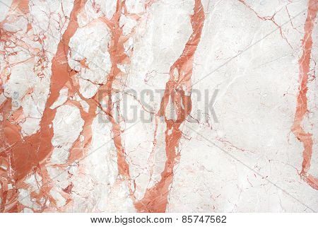 Red white marble