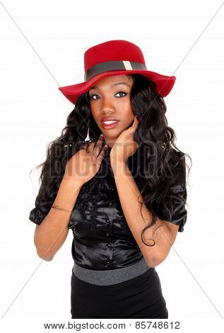 Black Girl With Red Hat.