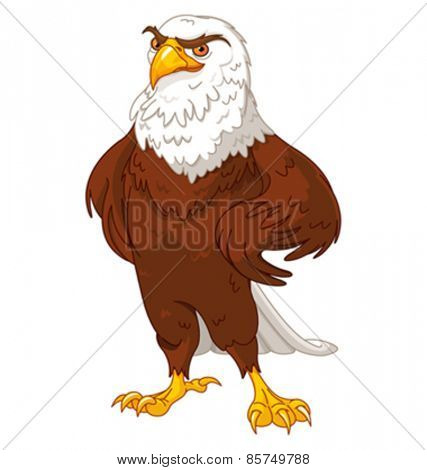 Illustration of proud American eagle