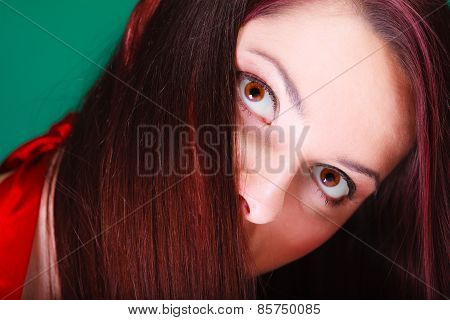 Face Of Attractive Young Woman.