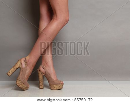 High Heels Shoes On Sexy Female Legs