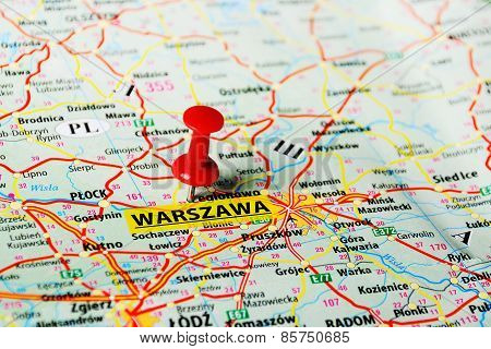 Warszawa ,poland Map