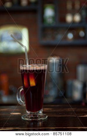 photo of mulled wine at bar