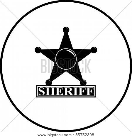 sheriff star badge symbol