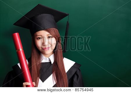 Smile Graduate Student Woman
