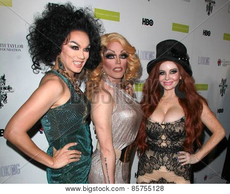 LOS ANGELES - MAR 19:  Manila Luzon, Morgan McMichaels, Phoebe Price at the