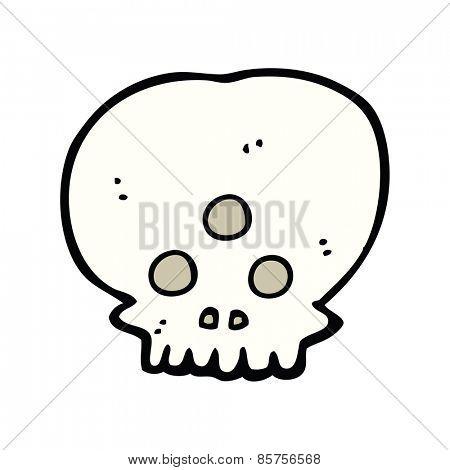 cartoon mystic skull