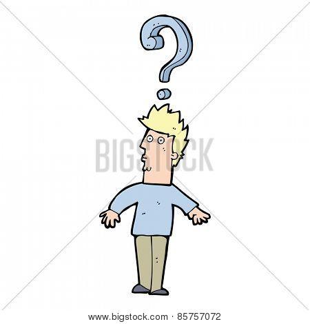 cartoon confused man
