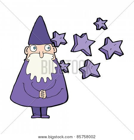cartoon magical wizard