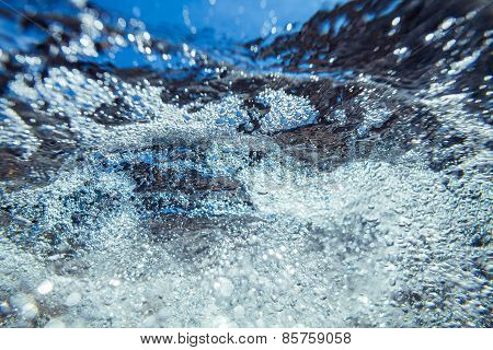 Abstract Underwater Sea Foam Bubbles Texture