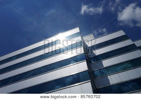 Business Building With Blue Sky
