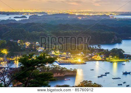 Matsushima, Japan coastal skyline.