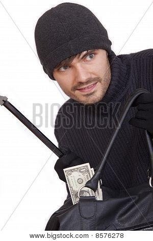 Bank Robber With Money Bag
