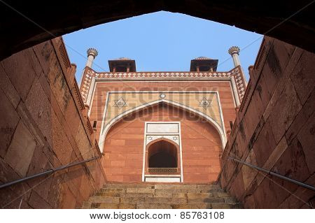 Humayun's Tomb Seen Through Entryway, Delhi, India