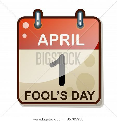 Detailed Icon. April 1. Isolated on white background
