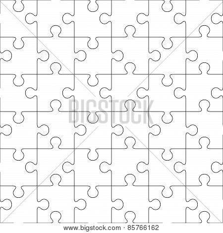 Puzzles. Seamless line pattern
