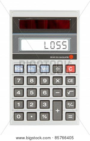 Old Calculator - Loss